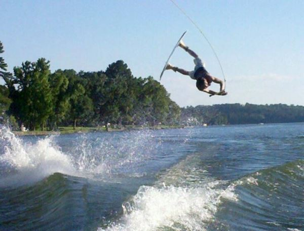Someone Wakeboarding