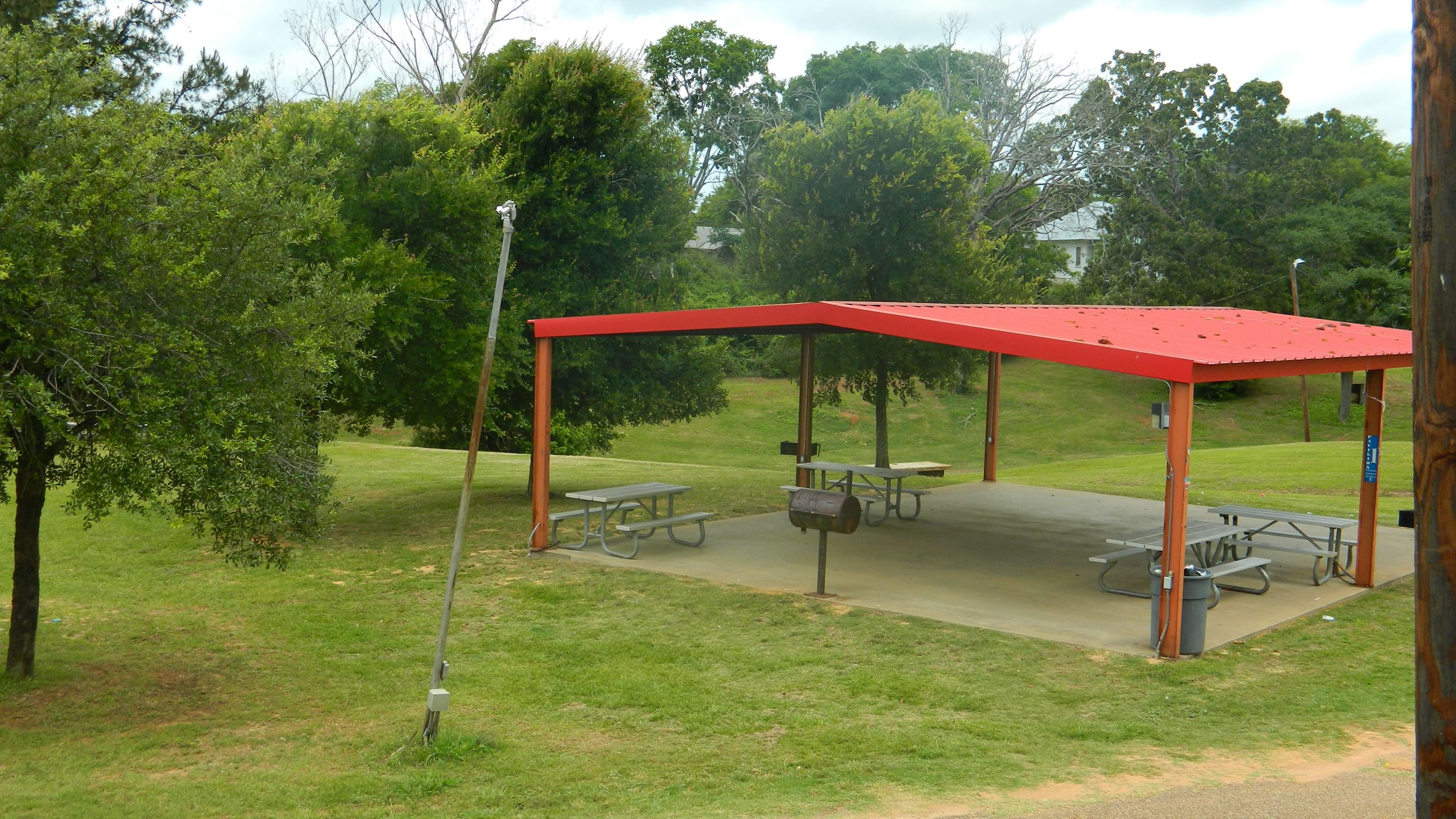 A Pavilion with Benches at Lincoln Park