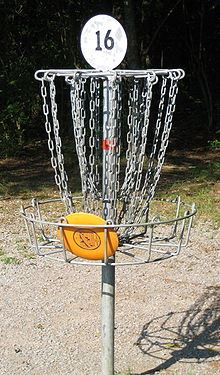 Disc Golf in Basket