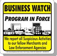 Business Watch Sign